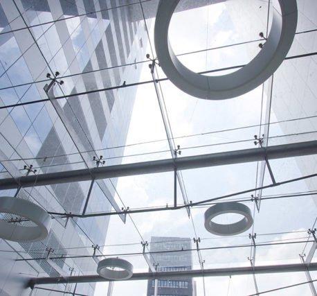 Вантовое (планарное) остекление фасадов